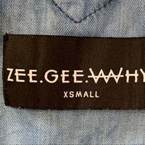 Nasty Gal Pants & Jumpsuits - NastyGal ZeeGeeWhy Cheeky Rider Chambray Romper